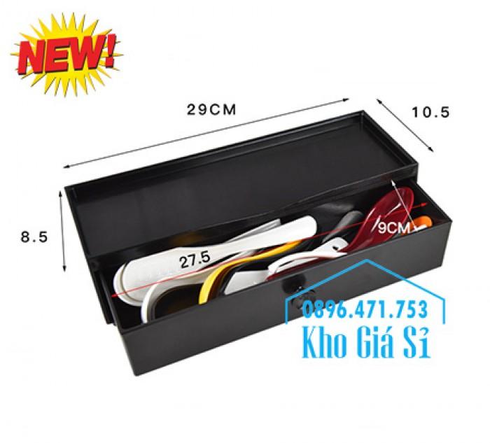HCM - Bán hộp đựng đũa muỗng kiểu Nhật Bản - Hộp đựng đũa muỗng kiểu Hàn Quốc