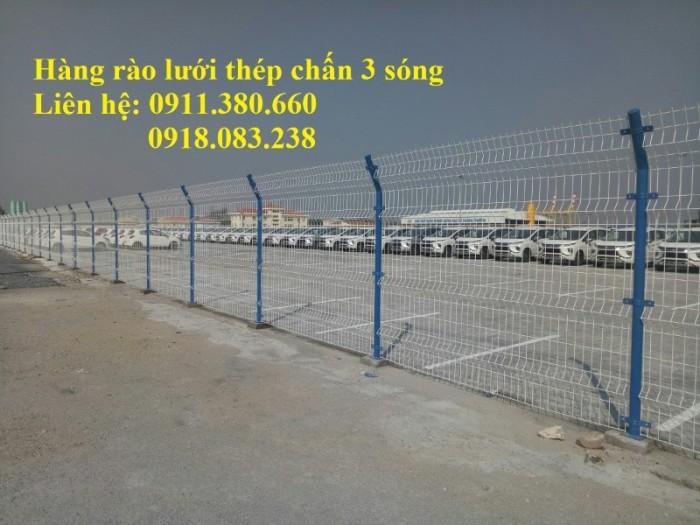 Hàng rào lưới thép chấn 3 sóng, mạ kẽm sơn tĩnh điện,....0