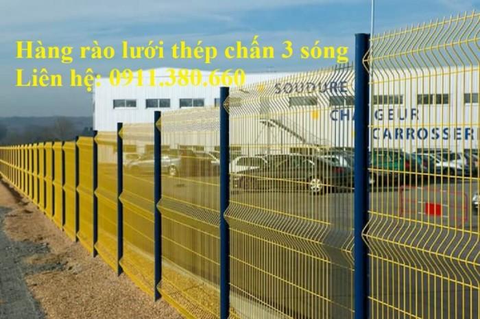 Hàng rào lưới thép chấn 3 sóng, mạ kẽm sơn tĩnh điện,....4