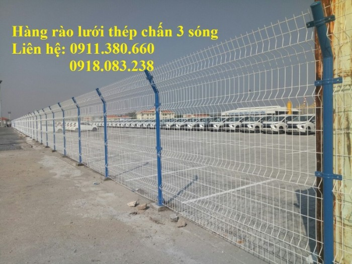 Hàng rào lưới thép chấn 3 sóng, mạ kẽm sơn tĩnh điện,....3