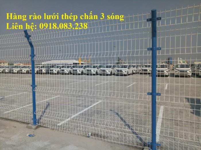 Hàng rào lưới thép chấn 3 sóng, mạ kẽm sơn tĩnh điện,....5