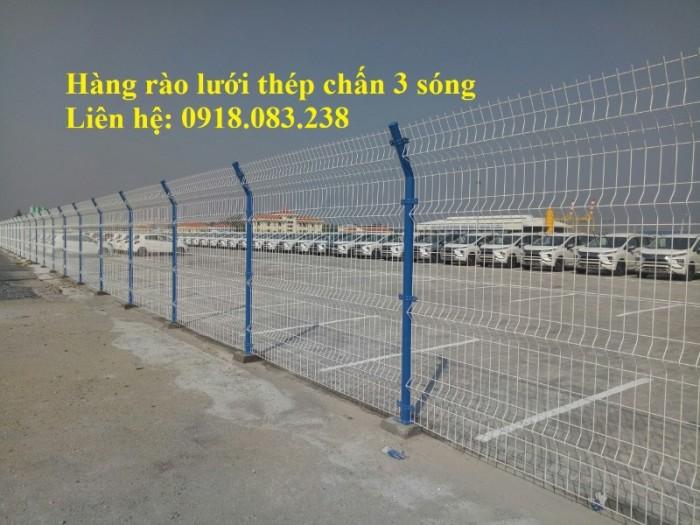 Hàng rào lưới thép chấn 3 sóng, mạ kẽm sơn tĩnh điện,....2