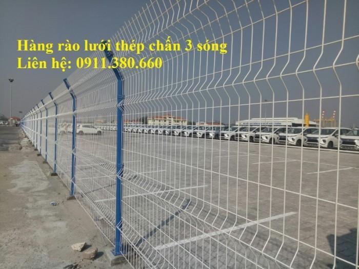 Hàng rào lưới thép chấn 3 sóng, mạ kẽm sơn tĩnh điện,....1