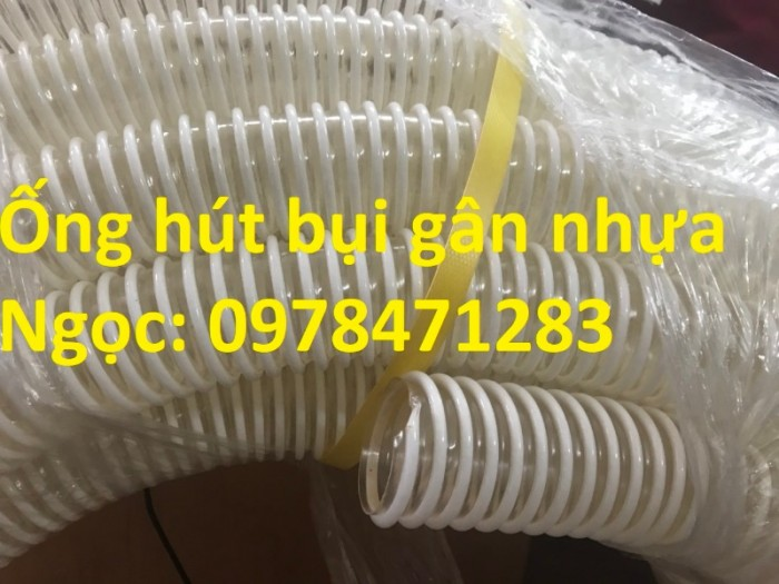 Ống gân nhựa trắng phi 100,phi 120,phi 150 hút hạt, hút bụi hàng sẵn giá rẻ1