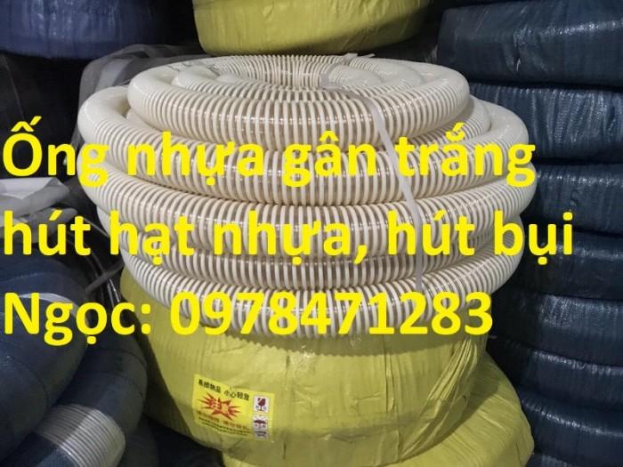Ống gân nhựa trắng phi 100,phi 120,phi 150 hút hạt, hút bụi hàng sẵn giá rẻ3