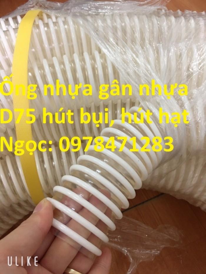 Ống gân nhựa trắng phi 100,phi 120,phi 150 hút hạt, hút bụi hàng sẵn giá rẻ5