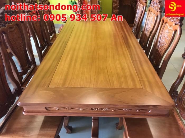 Bộ bàn ăn 8 ghế gỗ tự nhiên cao cấp giá tốt tại quận 72