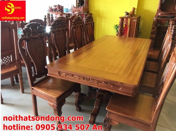 Bộ bàn ăn 8 ghế gỗ tự nhiên cao cấp giá tốt tại quận 71