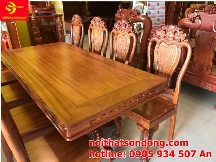 Bộ bàn ăn 8 ghế gỗ tự nhiên cao cấp giá tốt tại quận 75