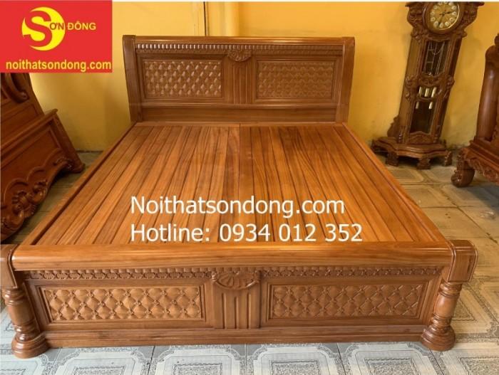 Giường ngủ hiện đại gỗ gõ đỏ nhóm 1 đẹp tại Tân Phú2