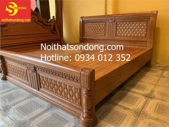 Giường ngủ hiện đại gỗ gõ đỏ nhóm 1 đẹp tại Tân Phú1