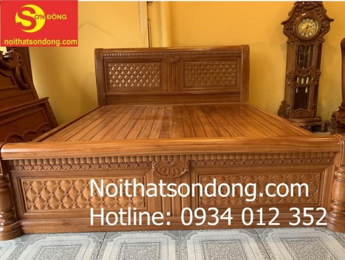 Giường ngủ hiện đại gỗ gõ đỏ nhóm 1 đẹp tại Tân Phú3