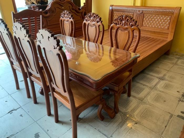 Bộ bàn ăn 6 ghế gỗ tự nhiên bán chạy nhất tại Sài Gòn0
