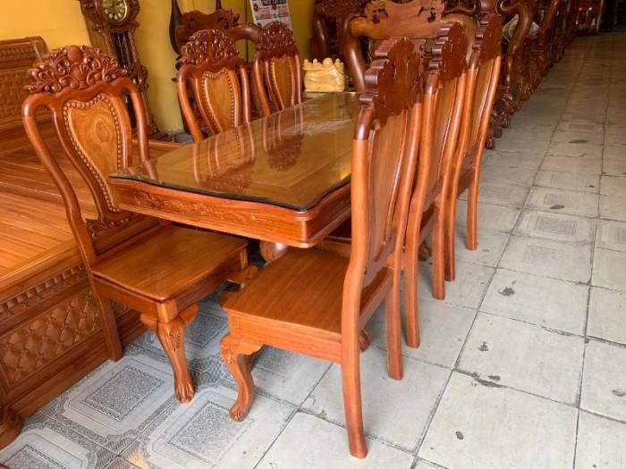 Bộ bàn ăn 6 ghế gỗ tự nhiên bán chạy nhất tại Sài Gòn1