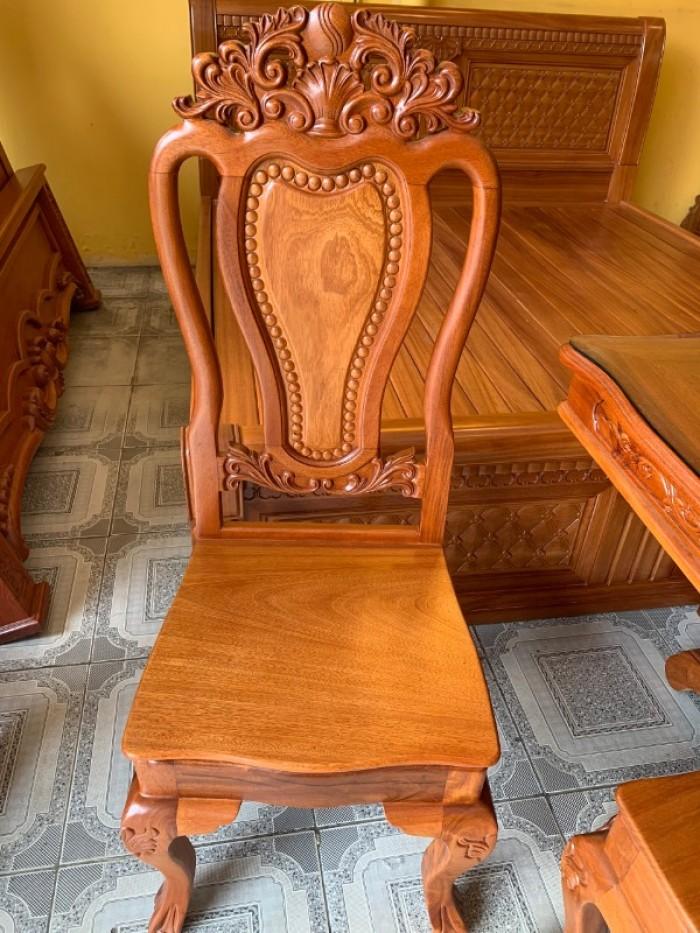 Bộ bàn ăn 6 ghế gỗ tự nhiên bán chạy nhất tại Sài Gòn4