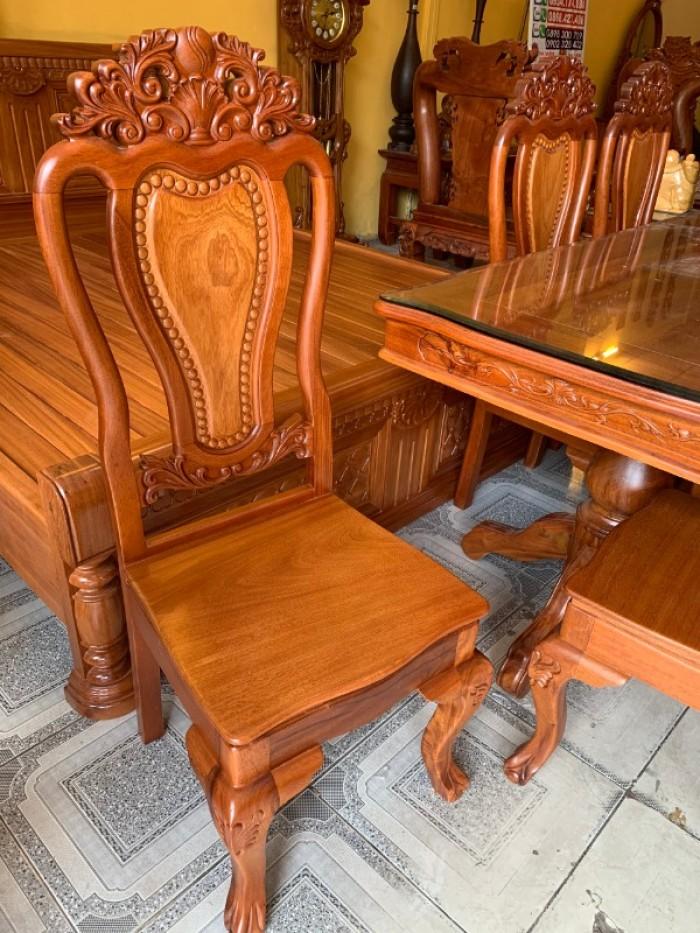 Bộ bàn ăn 6 ghế gỗ tự nhiên bán chạy nhất tại Sài Gòn5