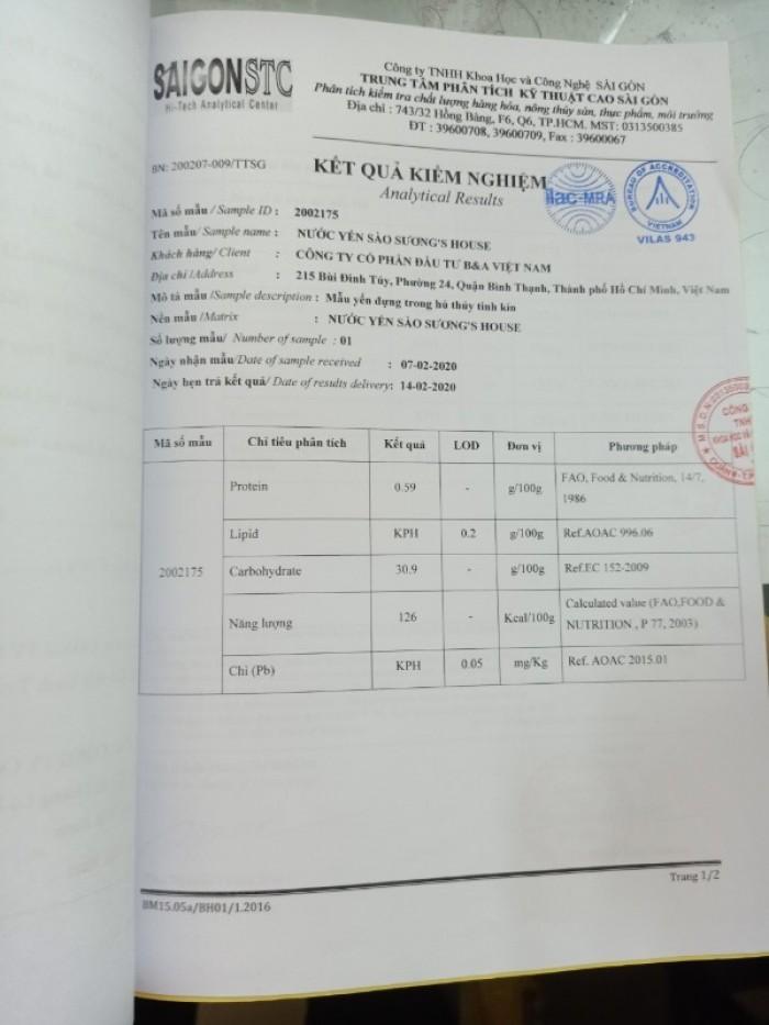 Nước Yến Sào Suong's House lốc 6 hũ  thủy tinh - 0938 39 59 39 4