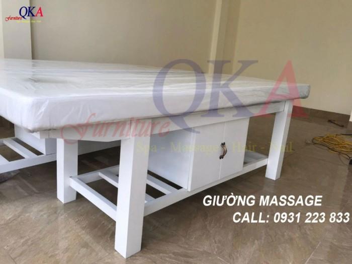 mẫu giường massage có tủ đựng đồ, tiết kiệm không gian.7