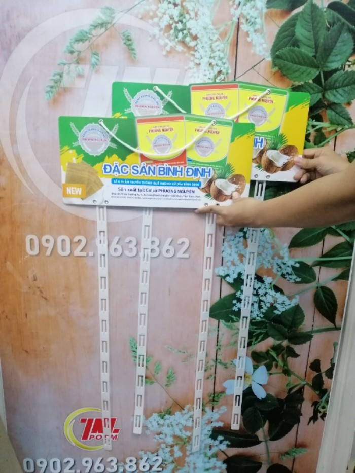 Hanger dây nhựa, vỉ treo quảng cáo sản phẩm3
