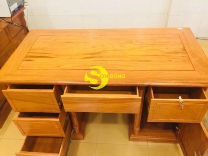 Bàn làm việc gỗ đỏ 1,2m giá xưởng2