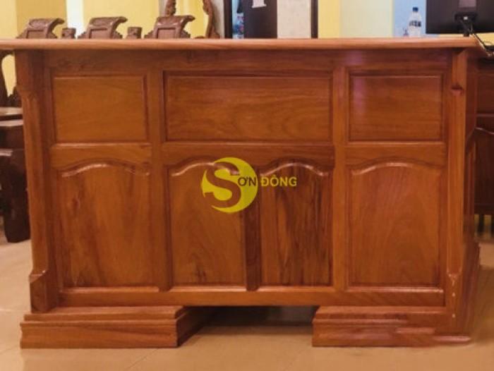 Bàn làm việc gỗ đỏ 1,2m giá xưởng3