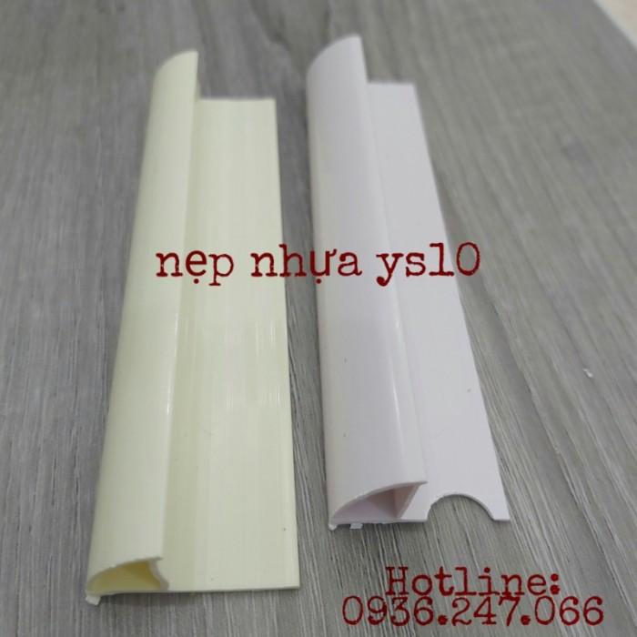 nẹp nhựa bo góc tròn ys10 màu trắng và màu kem1