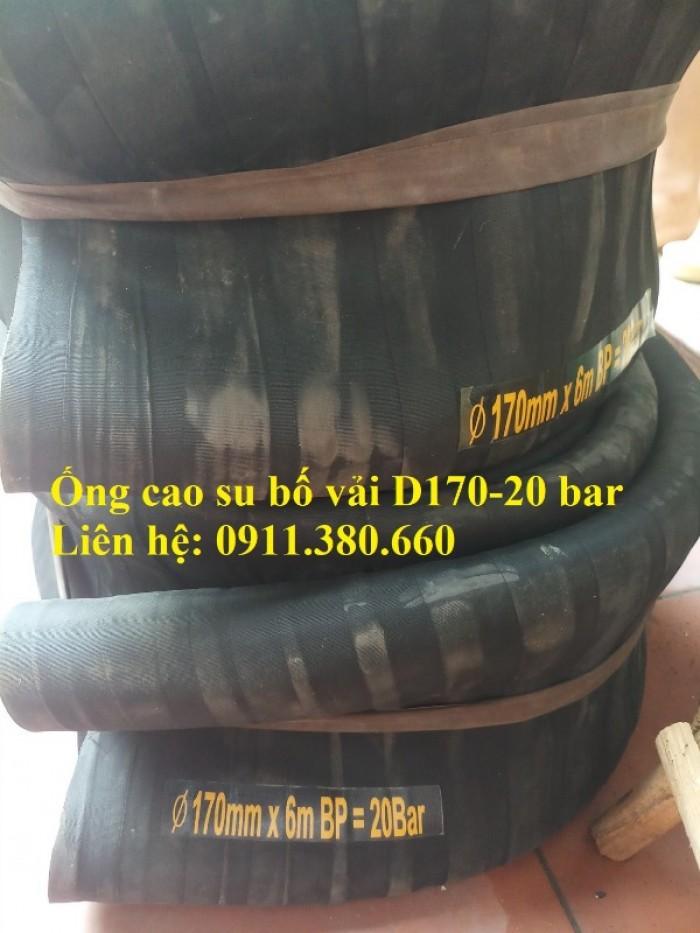 Nơi bán ống cao su bố vải D170- 20 bar, chiều dài 6m/cuộn1