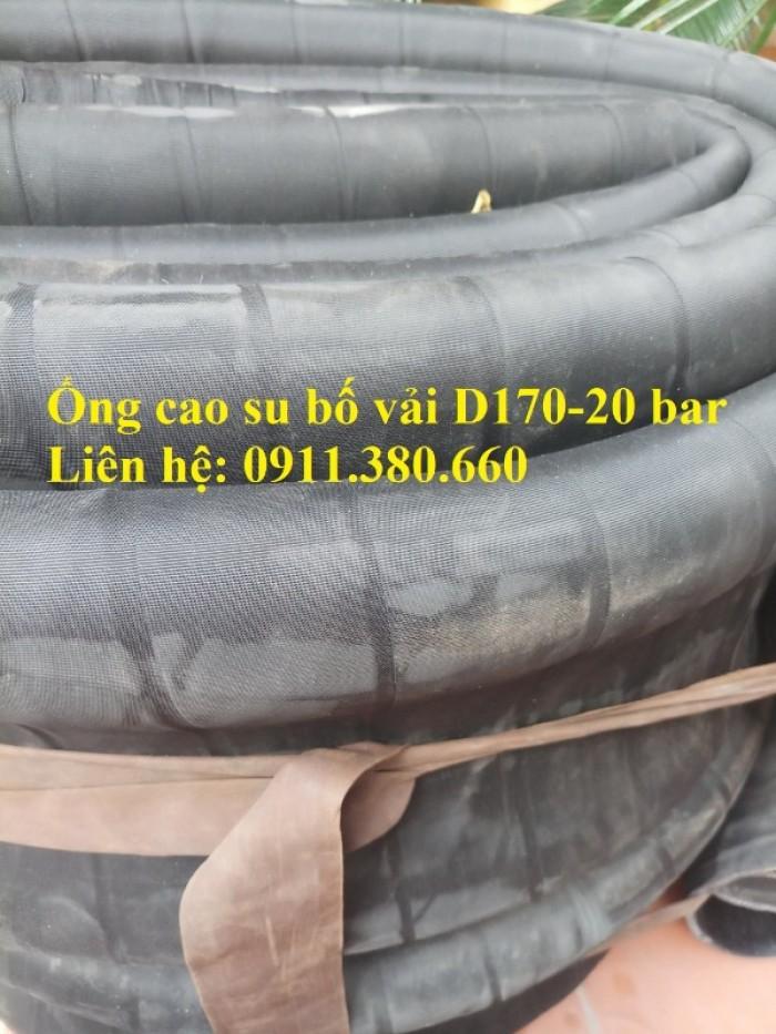 Nơi bán ống cao su bố vải D170- 20 bar, chiều dài 6m/cuộn0