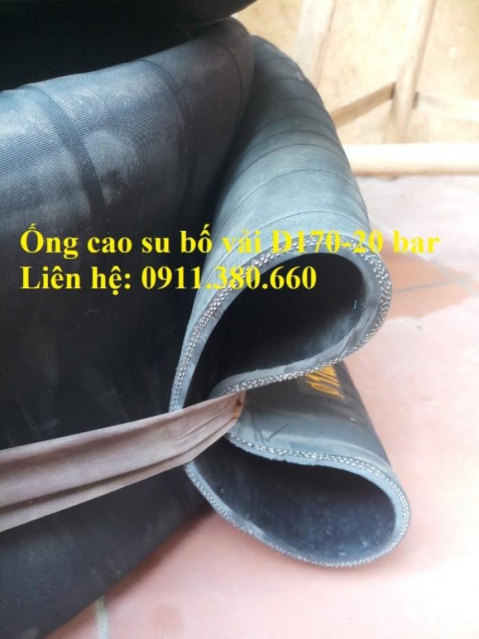 Nơi bán ống cao su bố vải D170- 20 bar, chiều dài 6m/cuộn2