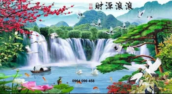 Tranh phong cảnh 3d thác nước1