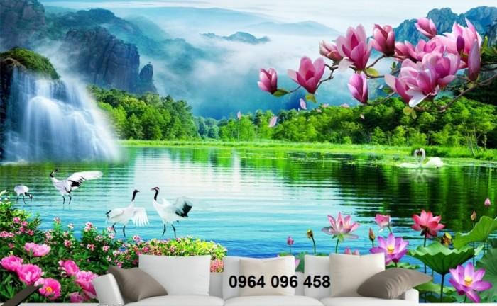 Tranh phong cảnh 3d thác nước0