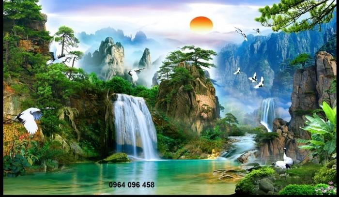 Tranh phong cảnh 3d thác nước4