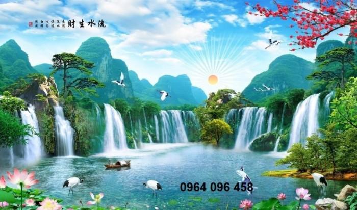 Tranh phong cảnh 3d thác nước3