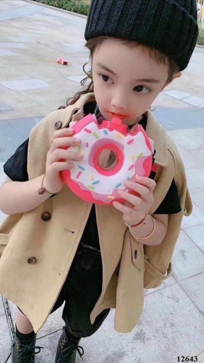 Bình nước hình bánh Donut: 140k/ cái - Vỏ tritan, silicon, PP - Dung tích 380ml, chịu nhiệt 0-90 độ C3