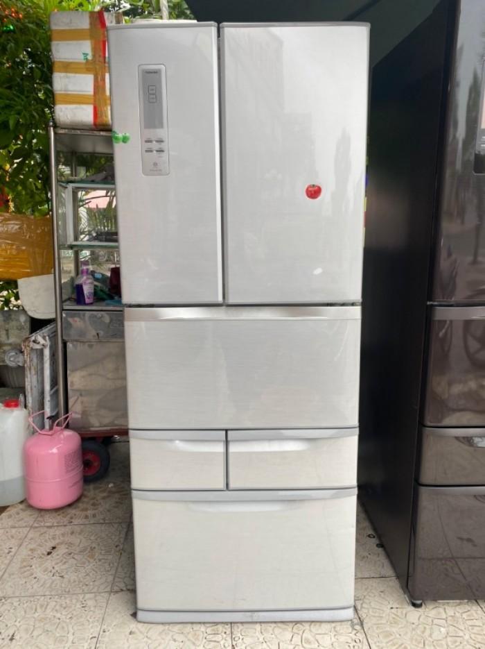 TỦ LẠNH NHẬT TOSHIBA GR-E47F (NU) date 2012 471L màu xám0