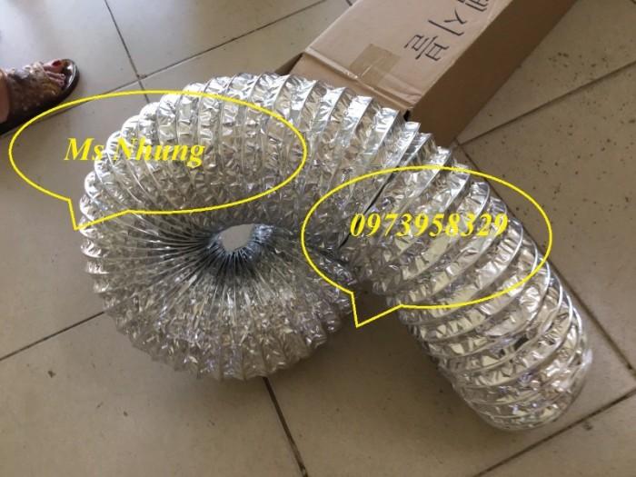 Ống gió mềm nhôm có bảo ôn cách nhiệt Phi 75 , Phi 100, Phi125, Phi 150, 200