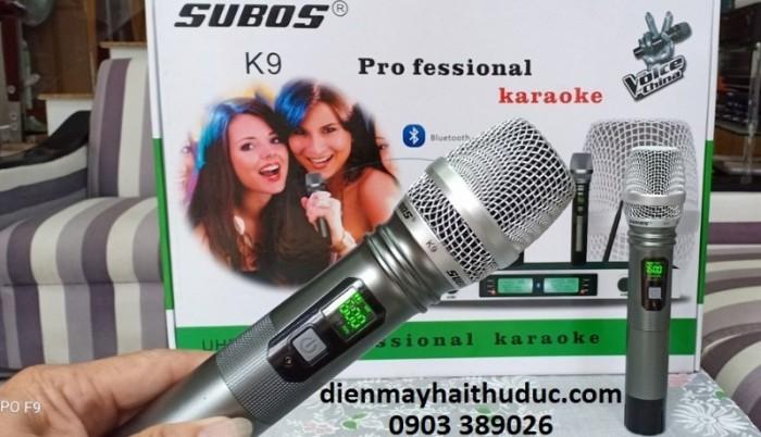 Micro không dây Subos K9 Âm thanh rõ và trung thực.- Chống hú rất tốt, bắt tiếng nhạy.  2