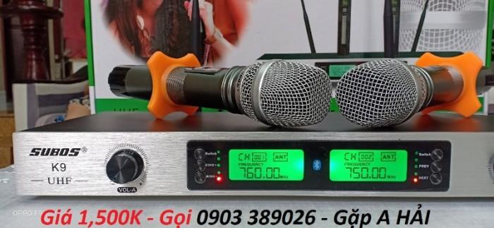 Micro không dây Subos K9 Thay thế thiết bị Bluetooth.- Thay thế đầu Karaoke.- Thay thế Mixer Karaoke. 4