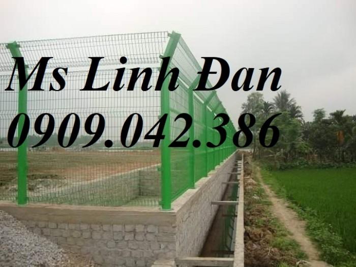 Lưới thép hàng rào gập 2 đầu, lưới thép hàng rào chấn 2 đầu mạ kẽm,13