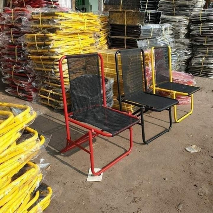 Bộ ghế sắt lưới xếp nhiều màu giá hạt giẻ6