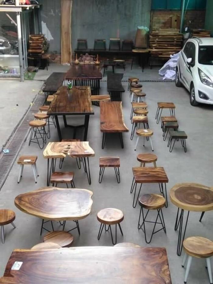 Mua Mặt bàn gỗ me tây nguyên miềng, mua đôn gỗ, chân bàn sắt TPHCM  0986 68 69684