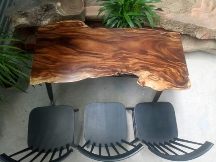 Mua Mặt bàn gỗ me tây nguyên miềng, mua đôn gỗ, chân bàn sắt TPHCM  0986 68 69682