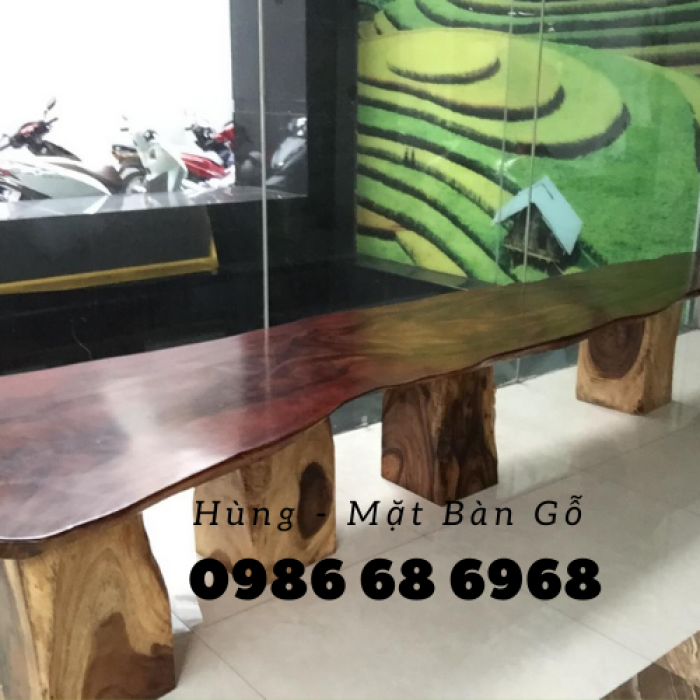 Mua Mặt bàn gỗ me tây nguyên miềng, mua đôn gỗ, chân bàn sắt TPHCM  0986 68 696810