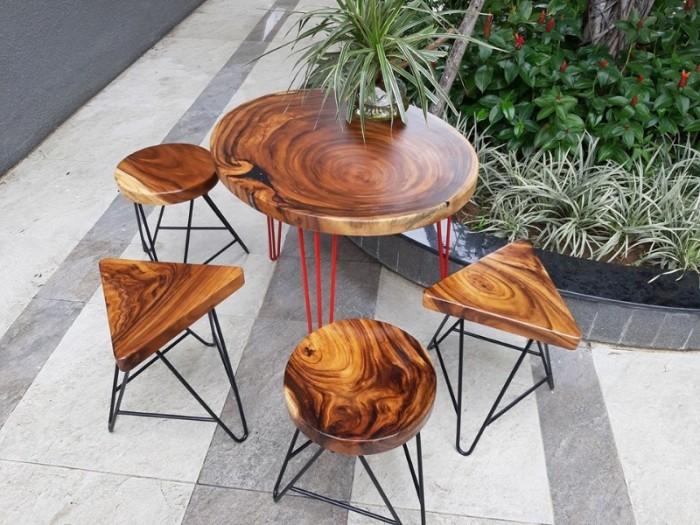 Mua Mặt bàn gỗ me tây nguyên miềng, mua đôn gỗ, chân bàn sắt TPHCM  0986 68 696812