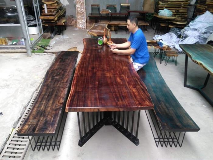 Mua Mặt bàn gỗ me tây nguyên miềng, mua đôn gỗ, chân bàn sắt TPHCM  0986 68 696814