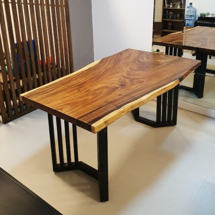 Mua Mặt bàn gỗ me tây nguyên miềng, mua đôn gỗ, chân bàn sắt TPHCM  0986 68 696826