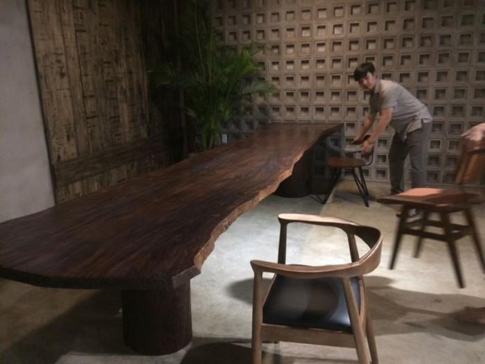 Mua Mặt bàn gỗ me tây nguyên miềng, mua đôn gỗ, chân bàn sắt TPHCM  0986 68 696824