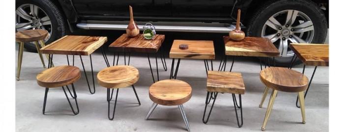 Mua Mặt bàn gỗ me tây nguyên miềng, mua đôn gỗ, chân bàn sắt TPHCM  0986 68 696831