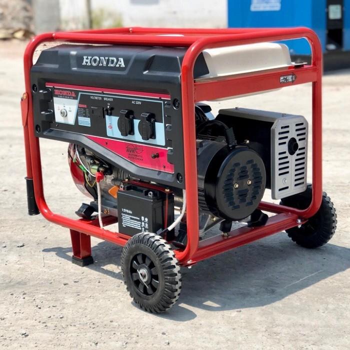 Máy phát điện Honda SH7500GS chạy xăng có bánh xe và tay kéo1