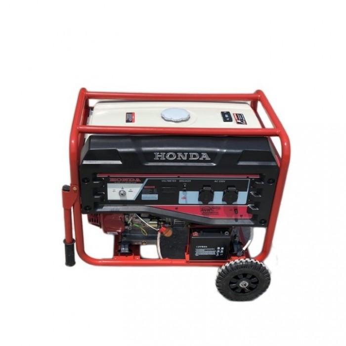 Máy phát điện Honda SH7500GS chạy xăng có bánh xe và tay kéo2